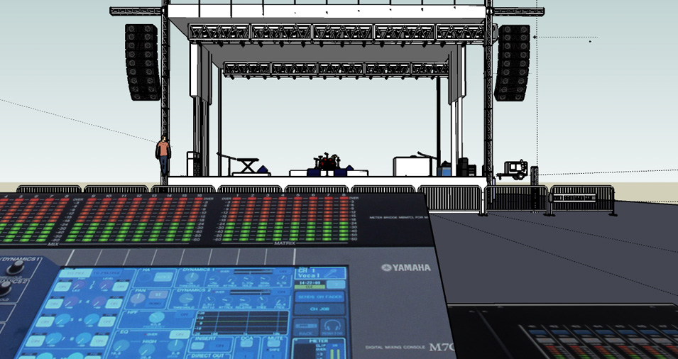 50' x 40' Mobile Stage Rental